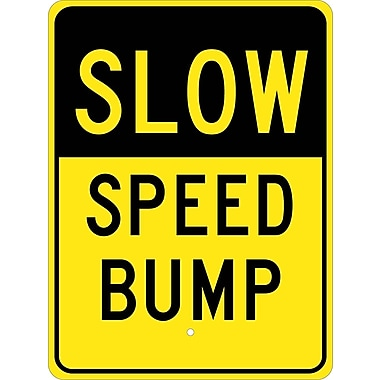 Slow Speed Bump, 24X18, .080 Hip Ref Aluminum