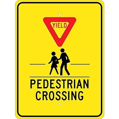 Yield (Graphic) Pedestrian Crosswalk, 24X18, .080 Egp Ref Aluminum