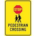 Stop (Graphic) Pedistrian Crossing, 24X18, .080 Egp Ref Aluminum
