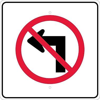 Graphic, No Left Turn Arrow Symbol, 24