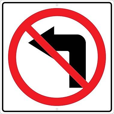 Graphic, No Left Turn Arrow Symbol 24X24, .080 Hip Ref Aluminum