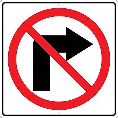 Graphic, No Right Turn Arrow Symbol, 24X24, .080 Hip Ref Aluminum