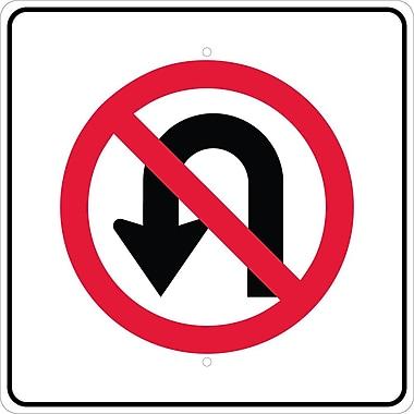 Graphic, No U Turn Left Arrow Symbol, 24X24, .080 Egp Ref Aluminum