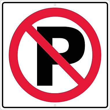 Graphic, No Parking Symbol, 24X24, .080 Hip Ref Aluminum
