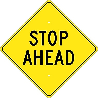 Stop Ahead, 24X24, .080 Hip Ref Aluminum