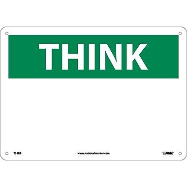 Think, (Heading Only), 10X14, Rigid Plastic