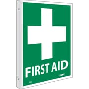 First Aid, Flanged, 10X8, Rigid Plastic
