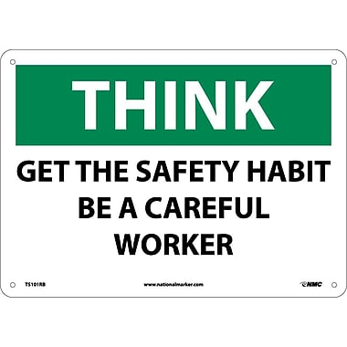 Think, Get The Safety Habit Be A Careful Worker, 10