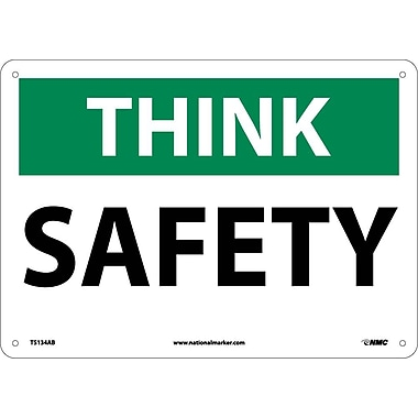 Think, Safety, 10X14, .040 Aluminum