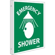 Emergency Shower, Flanged, 10X8, Rigid Plastic