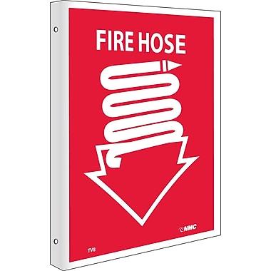 Fire Hose, Flanged, 10X8, Rigid Plastic