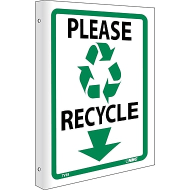 Please Recycle, Flanged, 10