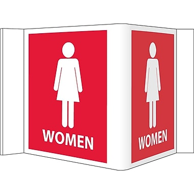 Visi Sign, Women, Red, 5 3/4X8 3/4, .125 PVC Plastic