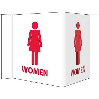 Visi Sign, Women, White, 5 3/4X8 3/4, .125 PVC Plastic