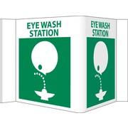 Visi Sign, Eye Wash Station, White, 5 3/4X8 3/4, .125 PVC Plastic