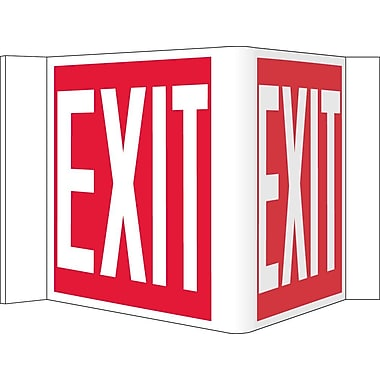 Visi Sign, Exit, Red, 8