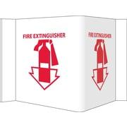 Visi Sign, Fire Extinguisher, White, 8X14 1/2, .125 PVC Plastic