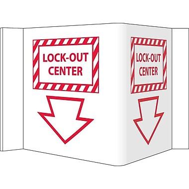 Visi Sign, Lockout Center, White, 5 3/4X8 3/4, .125 PVC Plastic