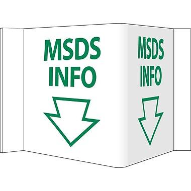 Visi Sign, Msds Info, White, 5 3/4X8 3/4, .125 PVC Plastic