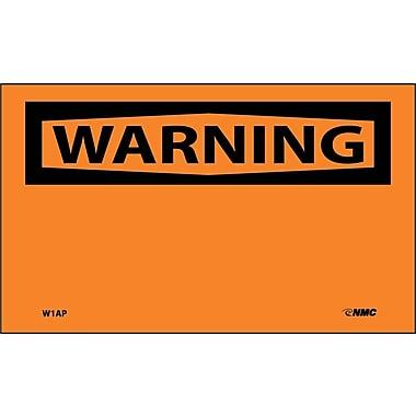Warning, (Header Only), 3X5, Adhesive Vinyl, 5/Pk