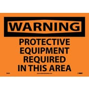 Warning, Protective Equipment Required In This Area, 10X14, Adhesive Vinyl