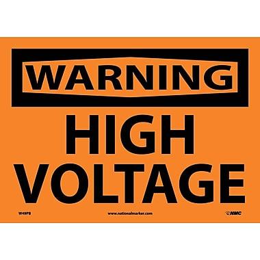 Warning, High Voltage, 10X14, Adhesive Vinyl