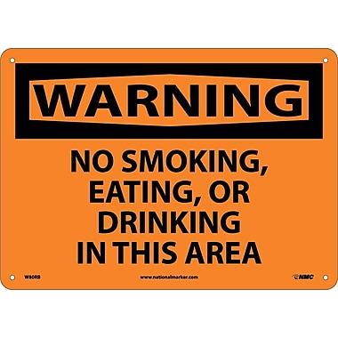 Warning, No Smoking Eating Or Drinking In This Area, 10