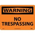 Warning, No Trespassing, 10X14, .040 Aluminum