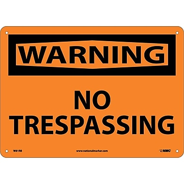 Warning, No Trespassing, 10X14, Rigid Plastic