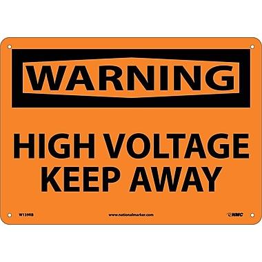Warning, High Voltage Keep Away, 10X14, Rigid Plastic