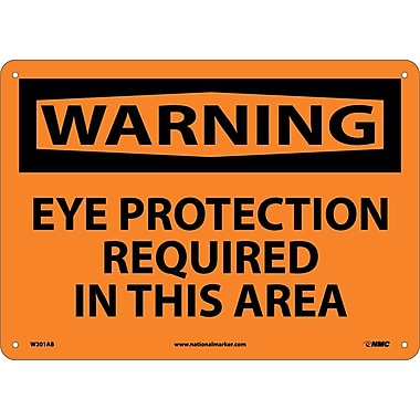 Warning, Eye Protection Required In This Area, 10