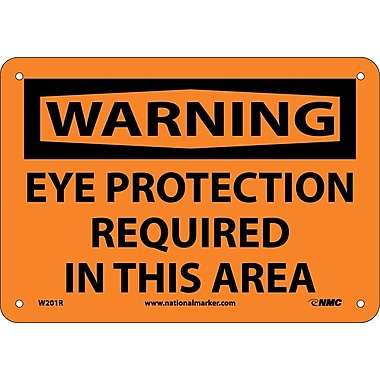 Warning, Eye Protection Required In This Area, 7