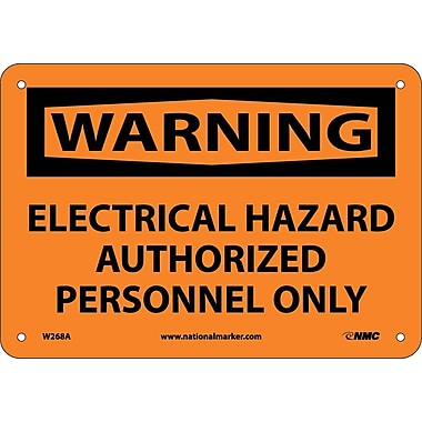Warning, Electrical Hazard Authorized Personnel Only, 7