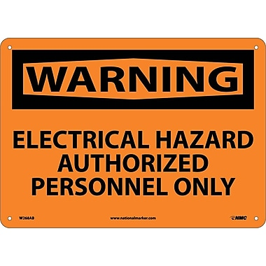 Warning, Electrical Hazard Authorized Personnel Only, 10