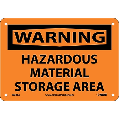 Warning, Hazardous Material Storage Area, 7