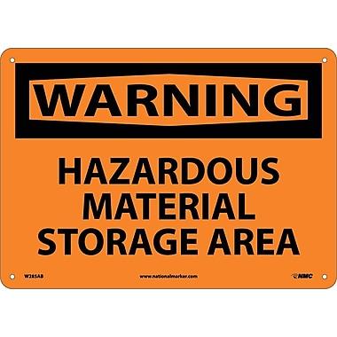 Warning, Hazardous Material Storage Area, 10X14, .040 Aluminum