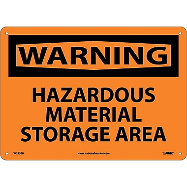Warning, Hazardous Material Storage Area, 10