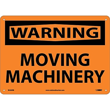 Warning, Moving Machinery, 10X14, Rigid Plastic