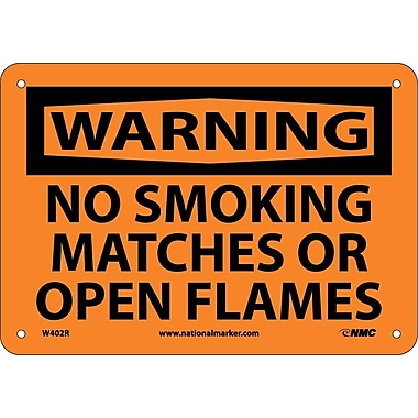 Warning, No Smoking Matches Or Open Flames, 7