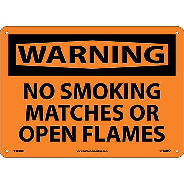 Warning, No Smoking Matches Or Open Flames, 10