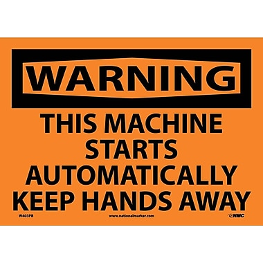 Warning, This Machine Starts Automatically.., 10
