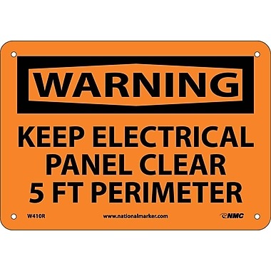 Warning, Keep Electrical Panel Clear 5 Ft Perimeter, 7