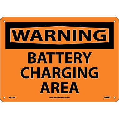 Warning, Battery Charging Area, 10