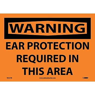 Warning, Ear Protection Required In This Area, 10