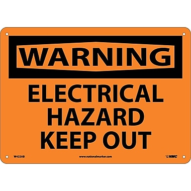Warning, Electrical Hazard Keep Out, 10X14, .040 Aluminum