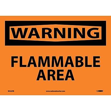 Warning, Flammable Area, 10X14, Adhesive Vinyl
