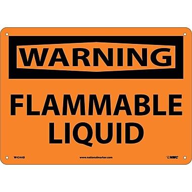 Warning, Flammable Liquid, 10