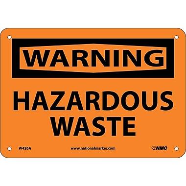 Warning, Hazardous Waste, 7X10, .040 Aluminum
