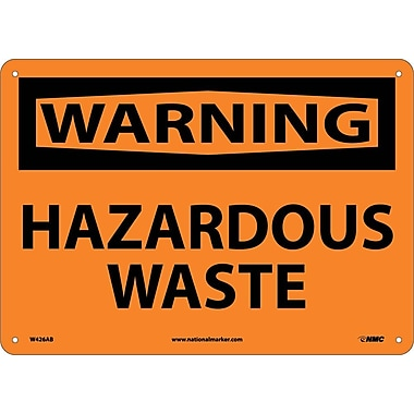 Warning, Hazardous Waste, 10X14, .040 Aluminum