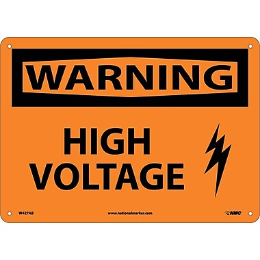 Warning, High Voltage, Graphic, 10X14, .040 Aluminum